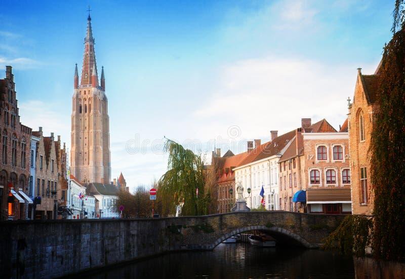 Scena stary miasteczko, Bruges obrazy stock