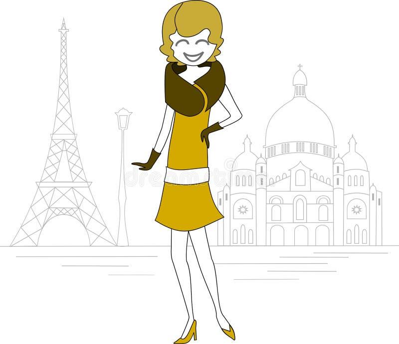 Scena tipica di Parigi illustrazione vettoriale