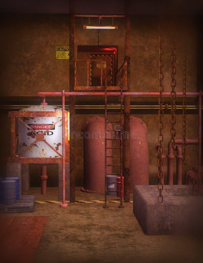 Scena urbana della fabbrica royalty illustrazione gratis