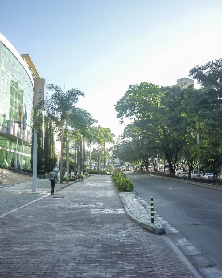 Scena urbana di giorno di Medellin Colombia immagine stock