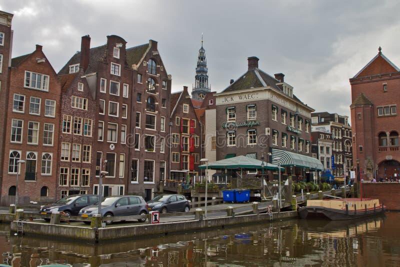 Scena w Amsterdam, Holandia zdjęcia royalty free