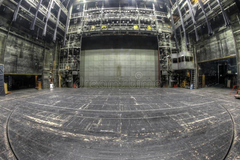 Scena w zaniechanym theatre obraz stock