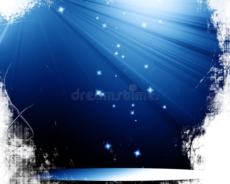 Scena z światłem reflektorów royalty ilustracja