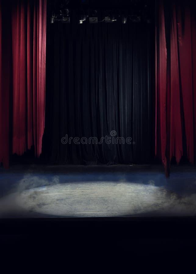 Scena z poszarpanym drapuje zdjęcia stock