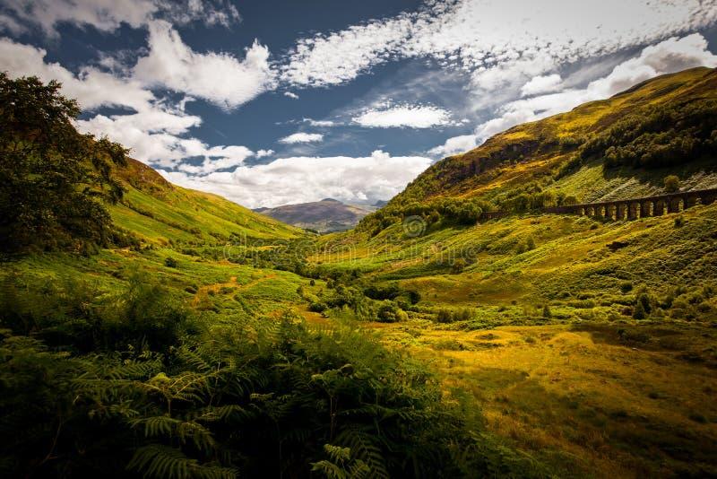 Scenary in Schotland stock afbeelding