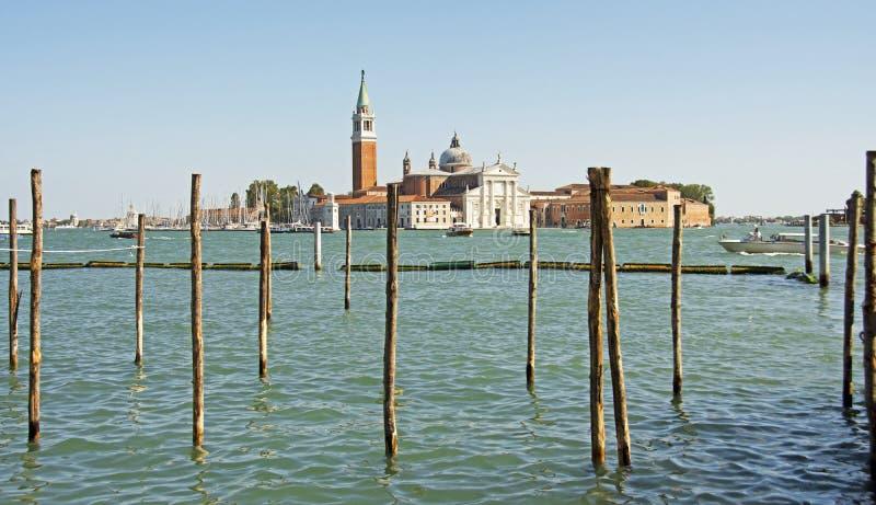 Scene across the waterway in Venice stock photography