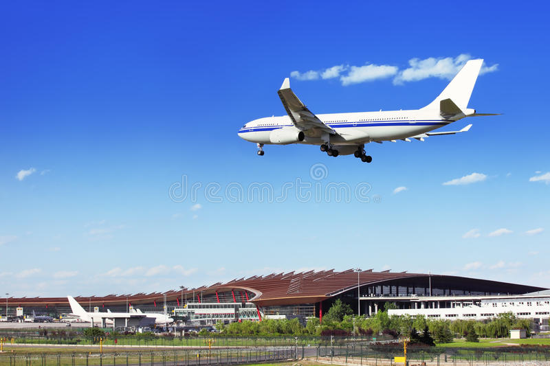 Download Scene at the airport stock image. Image of arrival, airliner - 25113703