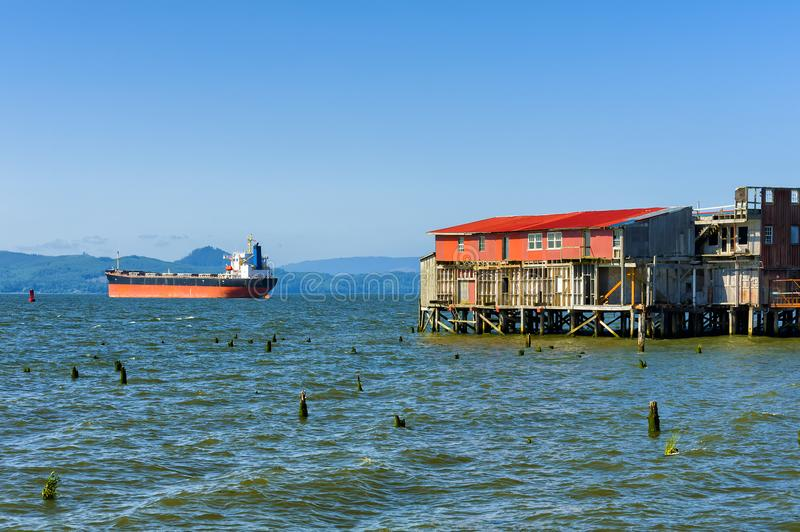 A Scene From Astoria`s Waterfront royalty free stock photo