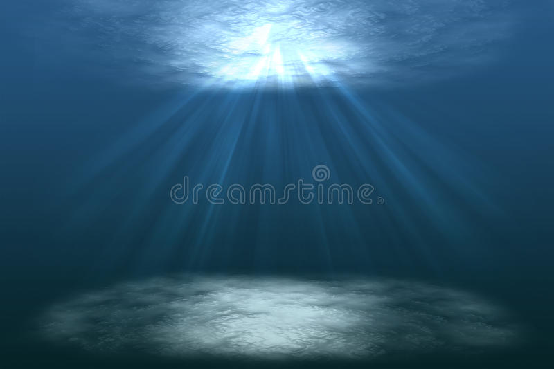 Scene of a beautiful under water world with sun rays,under lagoon,under the sea,illustration. Scene of a beautiful under water world with sun rays,under lagoon vector illustration