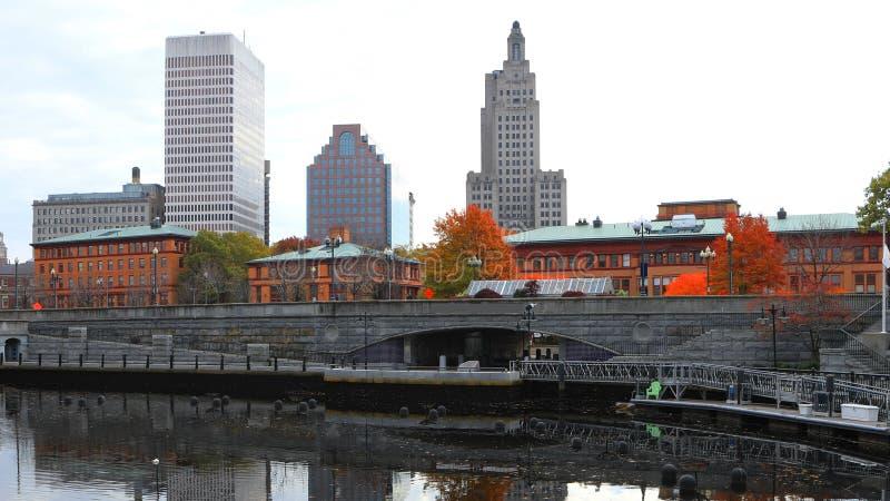 Scene of city center of Providence, Rhode Island. A Scene of city center of Providence, Rhode Island stock image