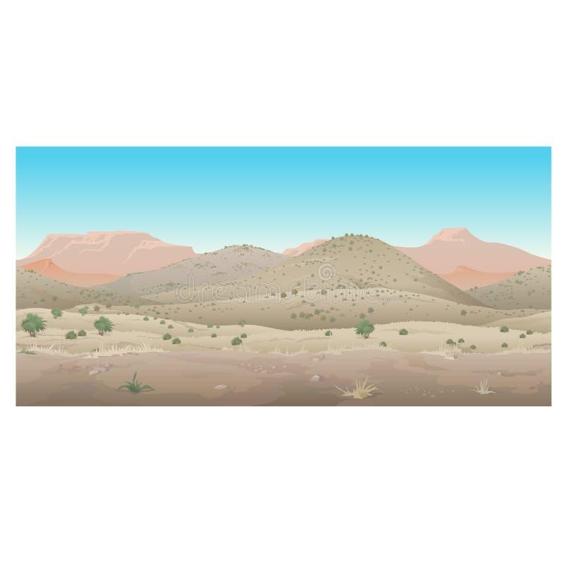 Scene creative, landscape of wild West, Prairie. Scene creative, landscape of the wild West, arid nature and plants, Prairie vector illustration