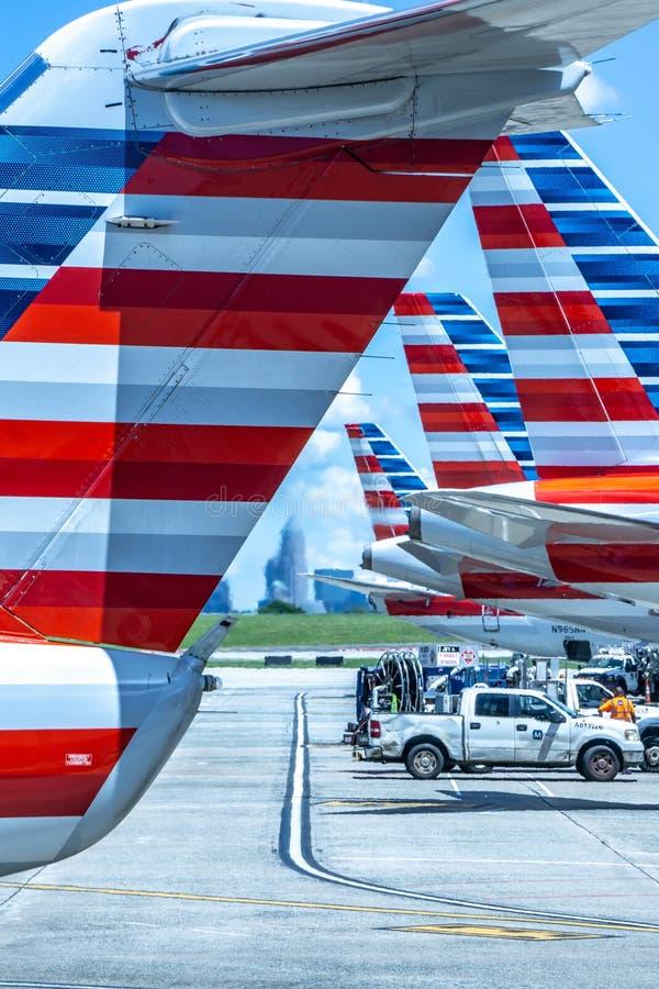 Scene dall'aeroporto di Charlotte North Carolina immagini stock libere da diritti