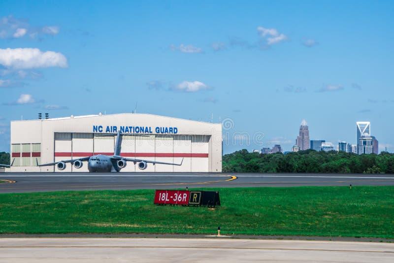 Scene dall'aeroporto di Charlotte North Carolina fotografia stock