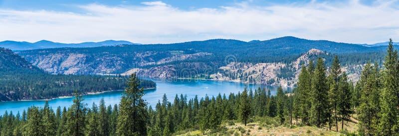 Scene del fiume Columbia un bello giorno soleggiato immagini stock libere da diritti
