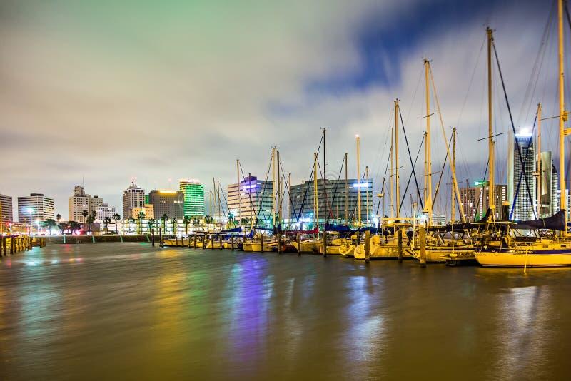 Scene di notte intorno a Corpus Christi il Texas fotografia stock libera da diritti