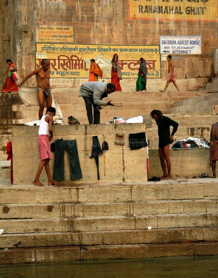 Scene at Ganges river stock image