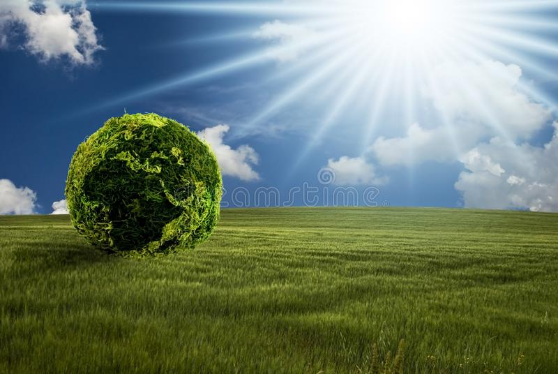 Scene of a greener world stock photos