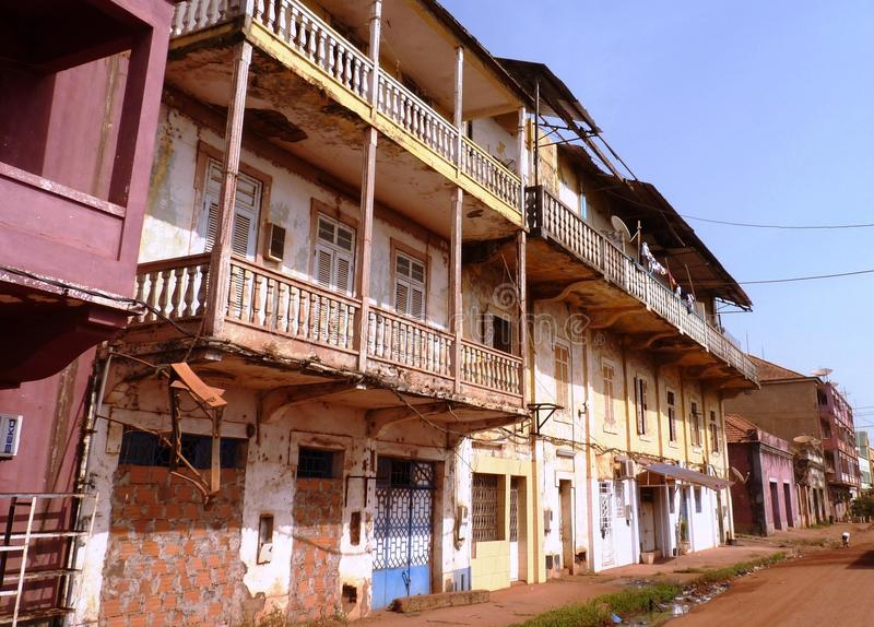 Scene from Guinea-Bissau. Rural Scene from Guinea-Bissau, Africa royalty free stock image