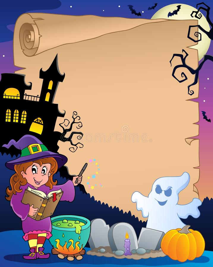 Download Scene With Halloween Parchment Stock Vector - Image: 25801853