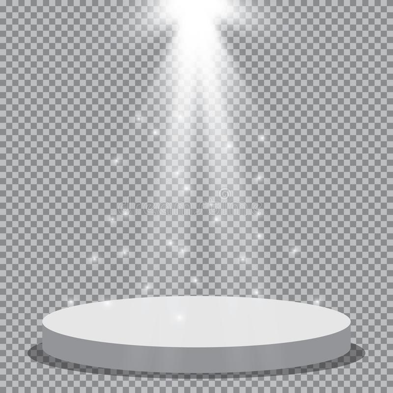 Scene illumination collection, transparent effects. Bright lighting with spotlights. Vector spotlight. Light effect vector illustration