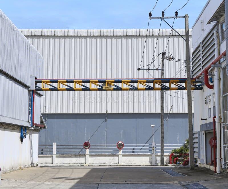 Scene of industrial building stock photos