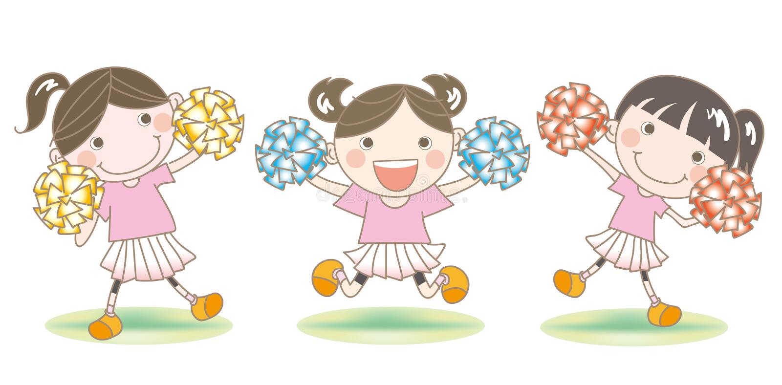 Cheerleader`s support image vector illustration