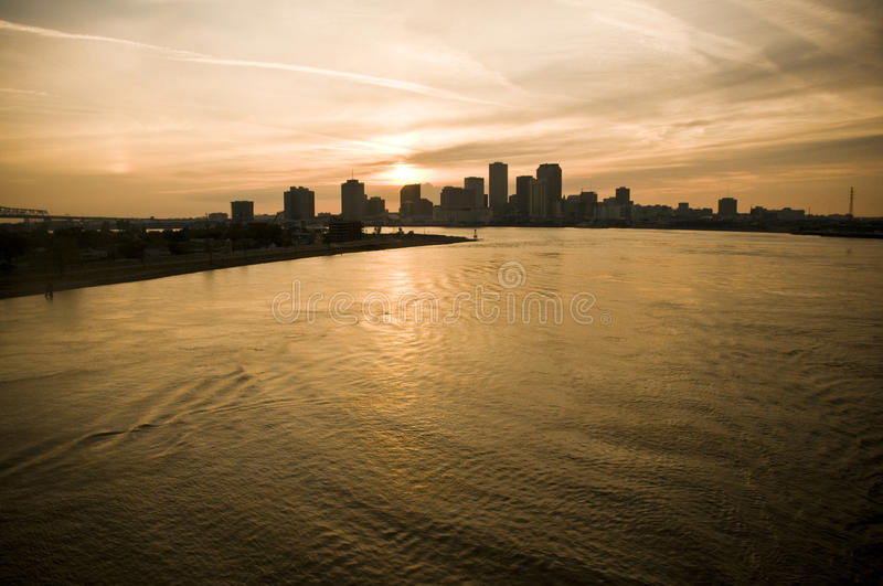 Scene from Mississippi River New stock photo