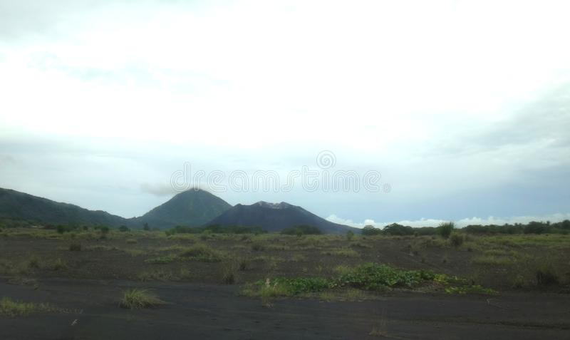 Scene of the old airport in Rabaul, destroyed by a volcanic eruption in 1994. royalty free stock photo