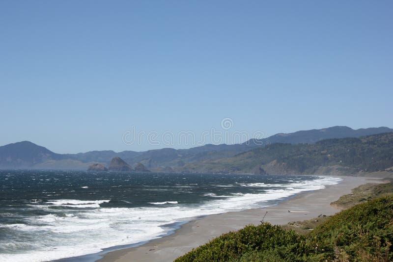 Serene Oregon Coast Highway Scene royalty free stock photo