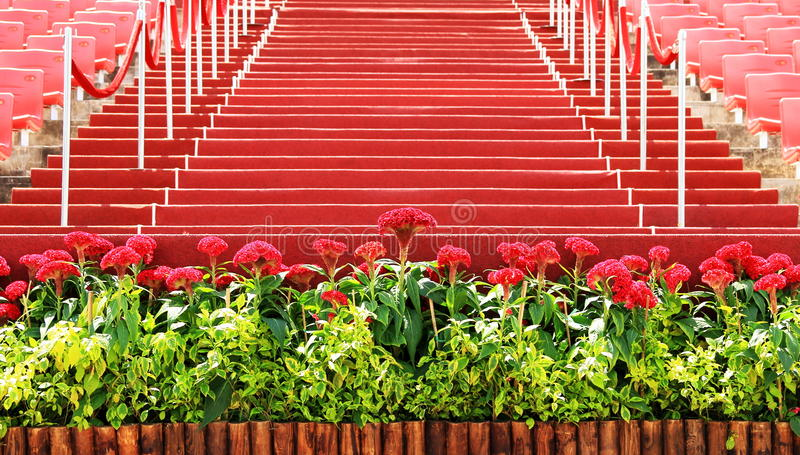 The scene is pepared for celebration. The scene is pepared for national day celebration of singapore royalty free stock photo