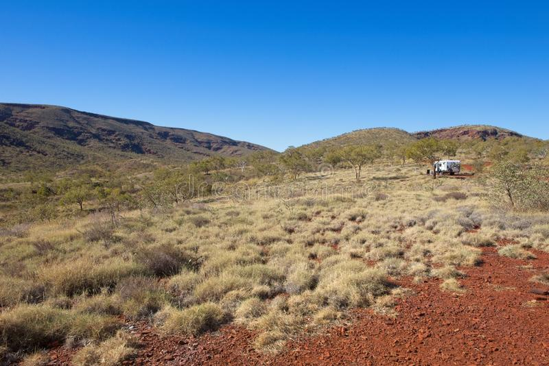 Scene Pilbara landschap in West-Australië royalty-vrije stock fotografie