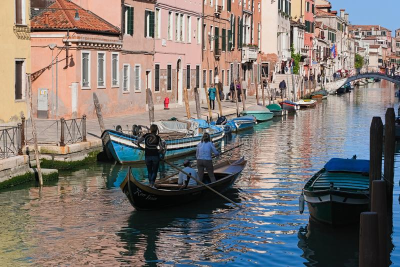 A scene of real life in Venice royalty free stock photography