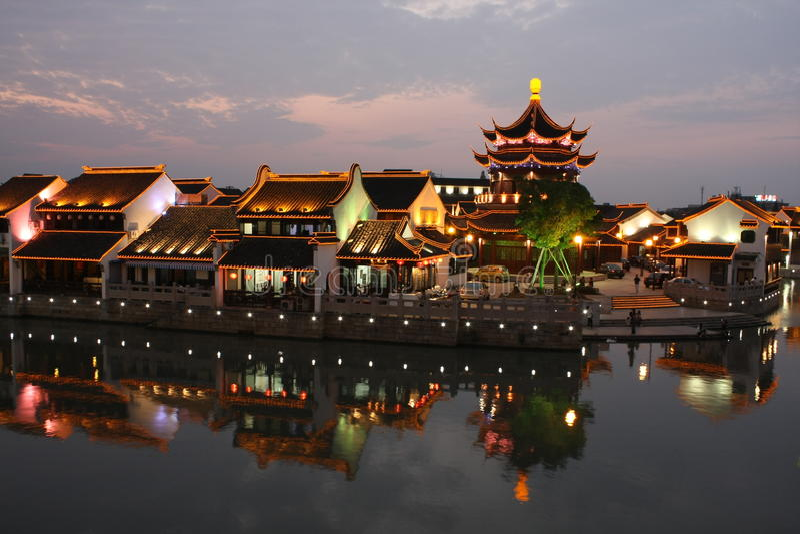 The scene of Shantang royalty free stock photos