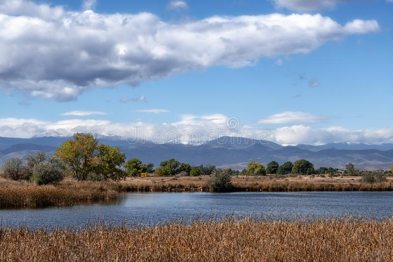 Colorado Lake East of the Rocky Mountains stock images