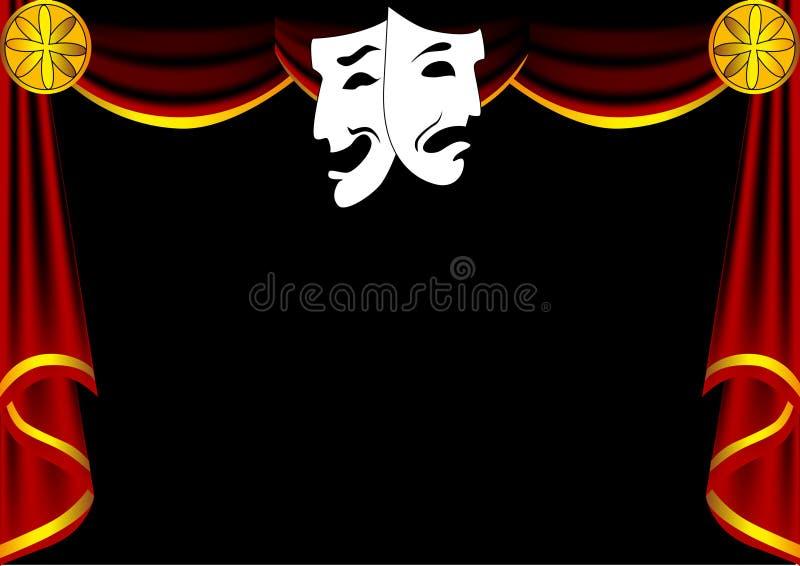 Scene theatre with curtain