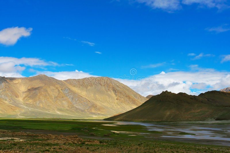 Download The scene of tibet stock photo. Image of cloud, high, beauty - 5588110
