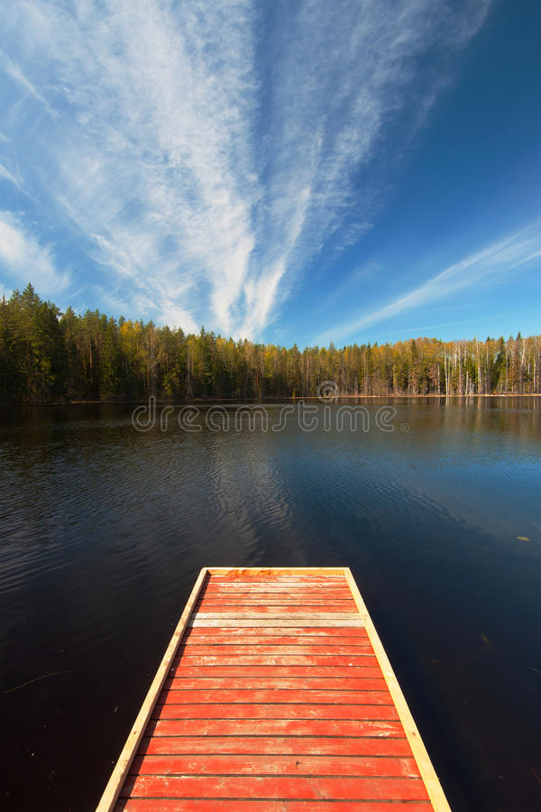 Scene of tranquility. At small lake in summertime royalty free stock photos