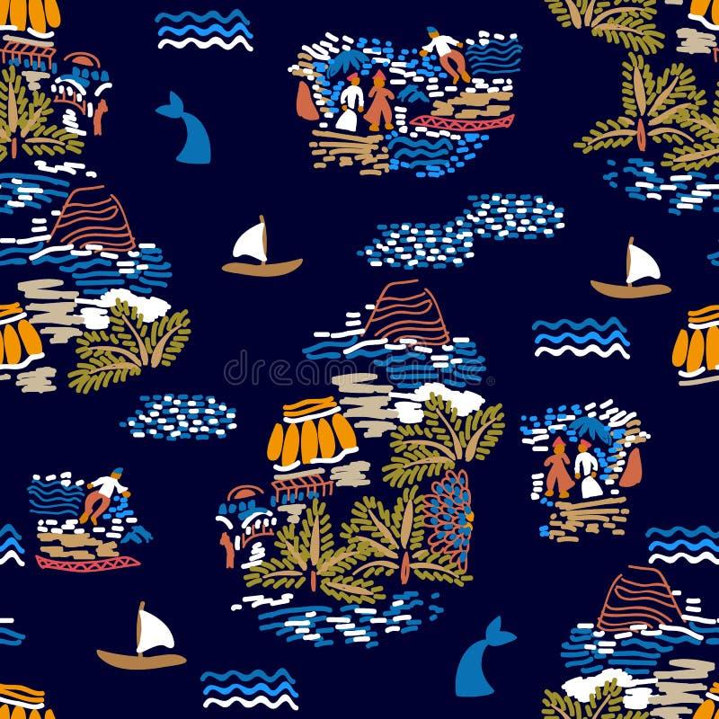 Scene tropicali dell'oceano royalty illustrazione gratis