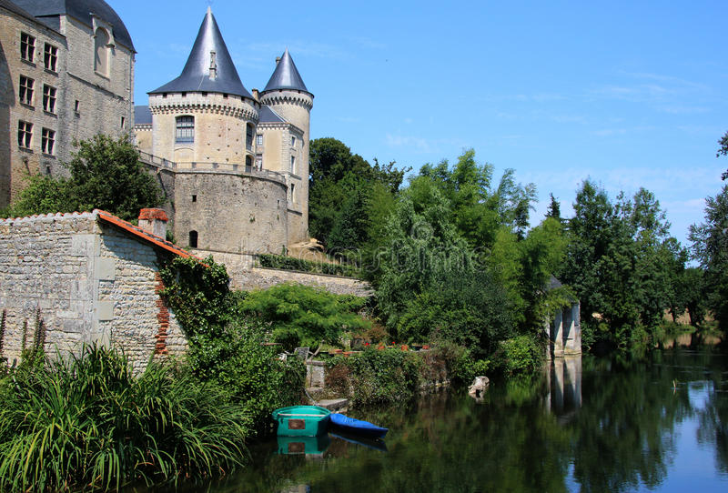 Scene at Verteuil-Sur-Charente stock photography