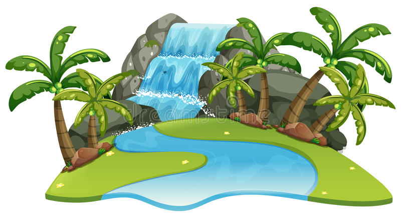 scene with waterfall and river stock vector illustration of white rh dreamstime com waterfowl clipart waterfall clip art free download
