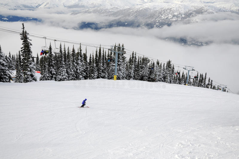 Download Scene At Whistler-Blackcomb Ski Resort Stock Image - Image of chairlift, cloud: 12894649