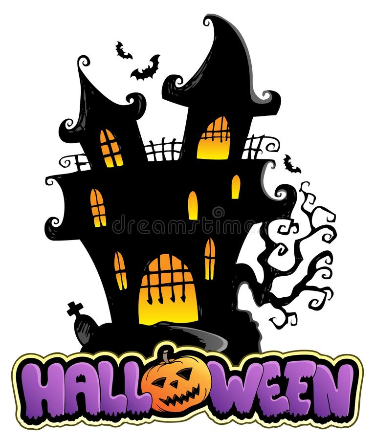 Free Scene With Halloween Sign 1 Royalty Free Stock Photography - 26443577