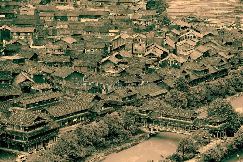 The scene of Xijiang Miao minority village. In Leishan county,Guizhou province of china stock photography