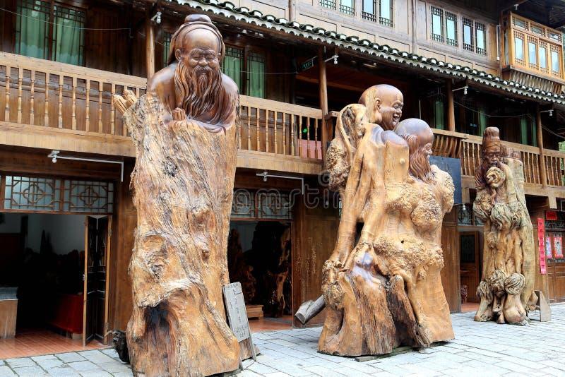 The scene of Xijiang Miao minority village. In Leishan county,Guizhou province of china royalty free stock image