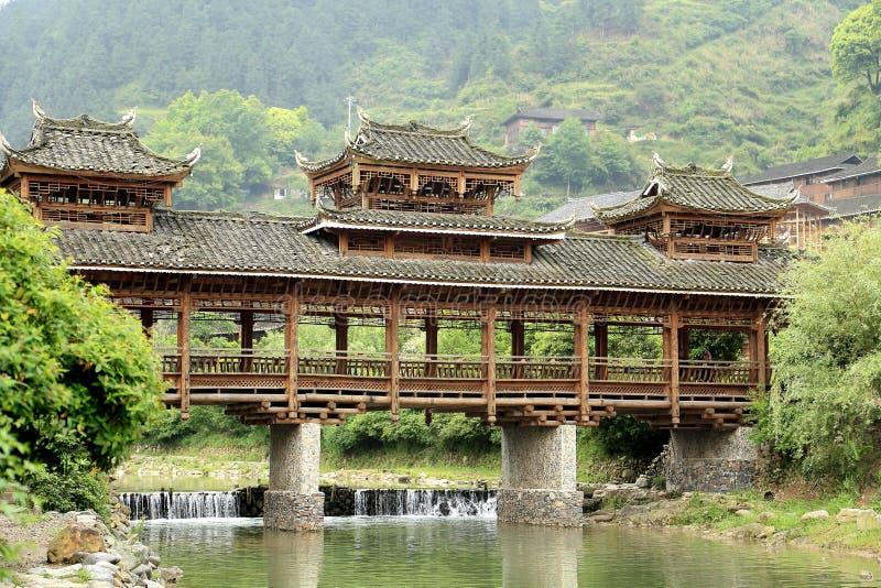 The scene of Xijiang Miao minority village. In Leishan county,Guizhou province of china royalty free stock photos