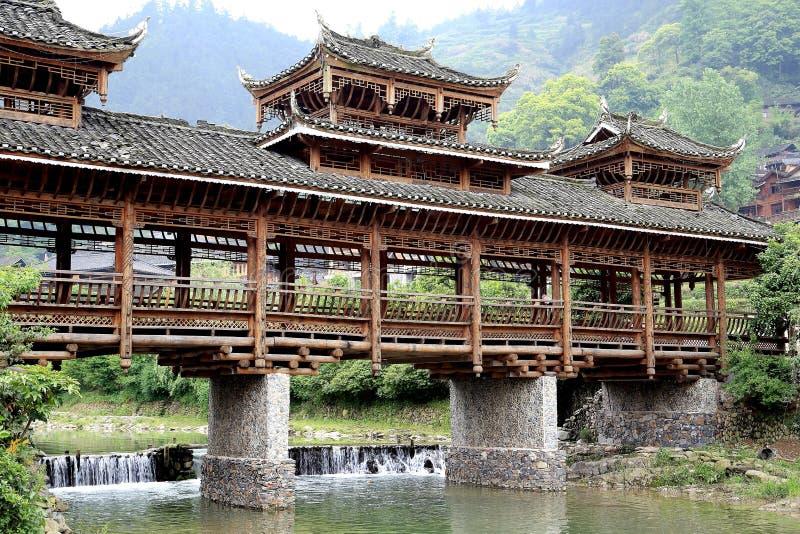 The scene of Xijiang Miao minority village. In Leishan county,Guizhou province of china stock images
