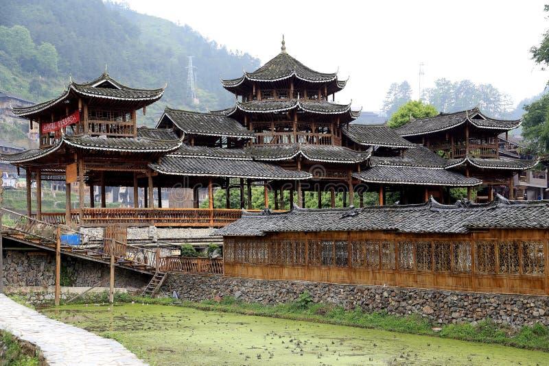 The scene of Xijiang Miao minority village. In Leishan county,Guizhou province of china stock photos