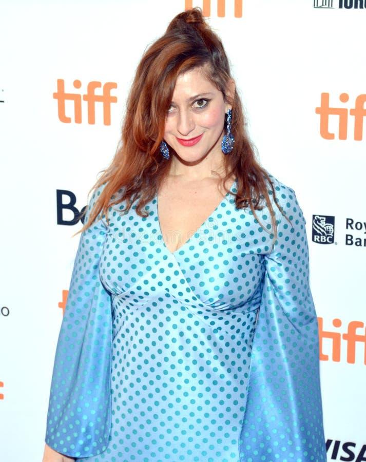 Sceneggiatore Anita Doron al prima di ` il ` del capo famiglia al festival cinematografico dell'internazionale di Toronto fotografia stock