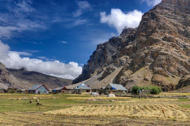 Sceneic sikt av den Drass byn, Kargil, Ladakh, Jammu and Kashmir, Indien arkivbild