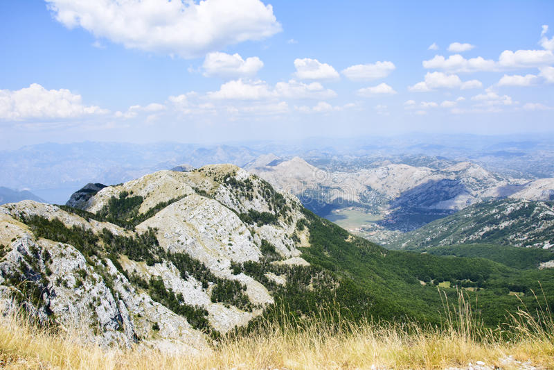 Sceneray do parque nacional de Lovcen, Cetinje, Montenegro imagens de stock
